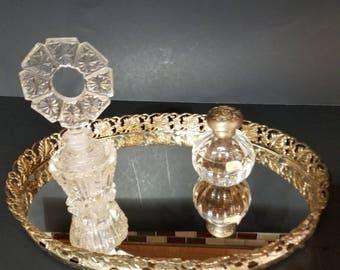 Vanity Tray Oval Vanity Tray Mirrored Vanity Tray Retro Tray Retro Dresser Tray Bedroom Dresser Tray Retro Decor