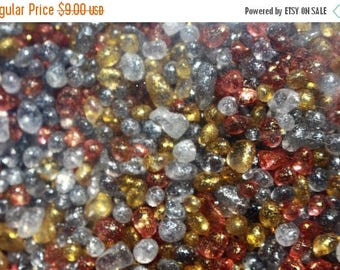 Save25% Glittered glass pebbles-Over 1 pound or 2 cup bags-4 colors to choose from-Orange-Grey-Clear-Golden yellow-Wedding vase fillers