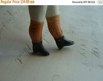 ONSALE One Pair of Antique Bisque Hand Painted German Doll Legs