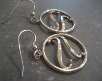 Sterling hand forged earrings