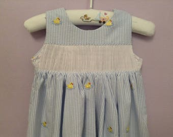 Ready to Smock Made to Order Backwrap jumper/Sundress 12-24m