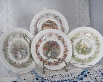 "ROYAL DOULTON ""Brambley Hedge"" - 4 Small plates: Spring, Summer, Autumn & Winter"