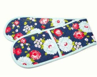 SUMMER SALE - Navy Oven Mit - The Good Life - Bonnie and Camille for Moda Fabrics