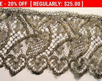 Antique Metallic Lace Trim Victorian 1800s