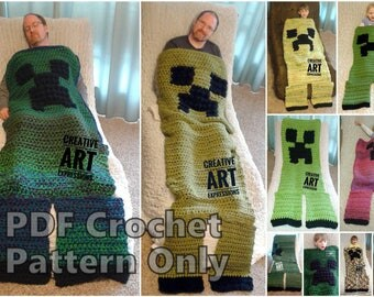 MOB Gamer Blanket Crochet Pattern, Adult, Teen, Child, Toddler, 12-24 month, Video Tutorials,Crochet Pattern,Unique,Wearable Blanket Pattern