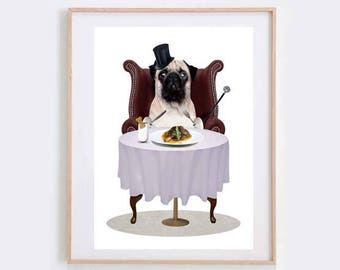 Pug Art Print - Dog Art Print - Animal Art - Pug Lovers Art - Pug Life