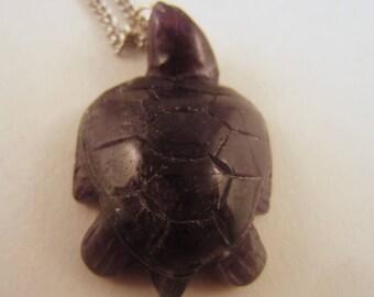Turtle Pendant necklace jewlery Amythyst