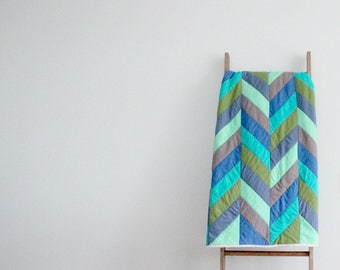 CUSTOM SOLD ORDER for Erin - Baby Quilt -in Herringbone Design