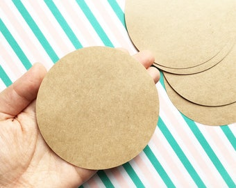 circle blank stickers. handmade kraft label stickers. diy birthday christmas gift wrapping. packaging tags. 9cm ( 3.54in ). set of 30