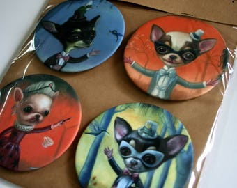 Coasters / Magic Chihuahua theme / inspired by the original art work by artist Ilona Cutts