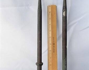 2 Vintage Copper Lightening Rods