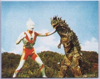 RARE 1969 Ultraman Card in JAPANESE Pigmon 18021020