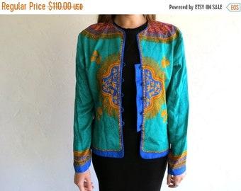 40% OFF Retro Asian-Inspired Silk Blazer Jacket