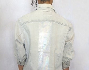 40% OFF The Vintage Levi's Holographic Back Stripe Denim Jacket