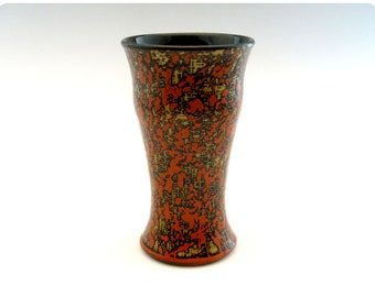 Etched Porcelain Beer Glass/Tumbler With Splatters