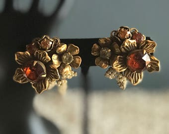 Vintage Vendome cluster earrings