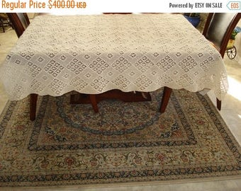 Labor Day Sale Brand New Handmade Crochet tablecloth-Doily Runner, Long Rectangle, Crochet Lace Bedroom Curtain, Unique Crochet