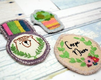 Hand Embroidered Patches embroidery pattern pdf instant download