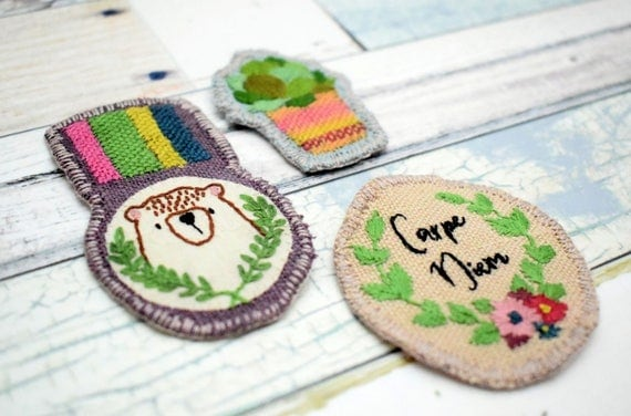 Hand Embroidered Patches Embroidery Pattern Pdf Instant