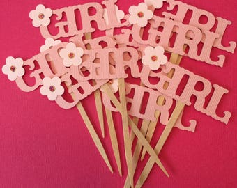 Baby Shower Cupcake Toppers - Girl Toppers Baby Shower