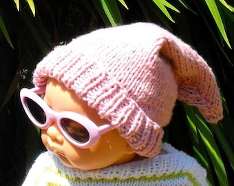 40% OFF SALE Instant Digital File PDF Download Knitting pattern -Baby Pink Pixie Hat knitting pattern pdf download by madmonkeyknits