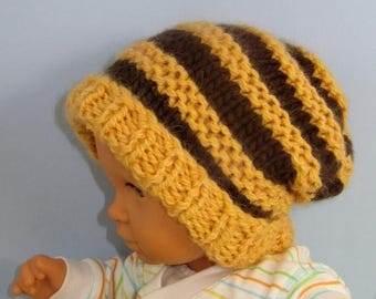 40% OFF SALE Instant Digital File pdf download knitting pattern only- Baby Superfast Stripe Slouch  pdf download knitting pattern