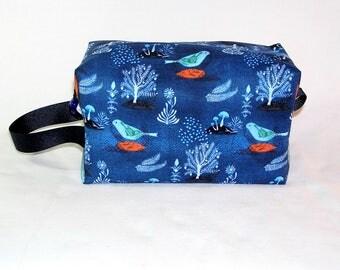 Bluebirds and Pomegranate Midi Bag