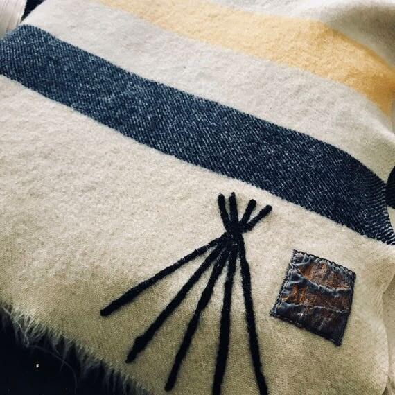 Vintage Teepee Mohawk Blanket