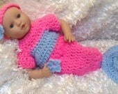 Ready to ship.Handmade Clothes for 12 And 15 inch soft bodied  Dolls.Mermaid set
