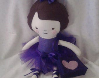 Flash Sale 18 Inch Ballerina Rag Doll With Removable Shoes, Tutu and Purse