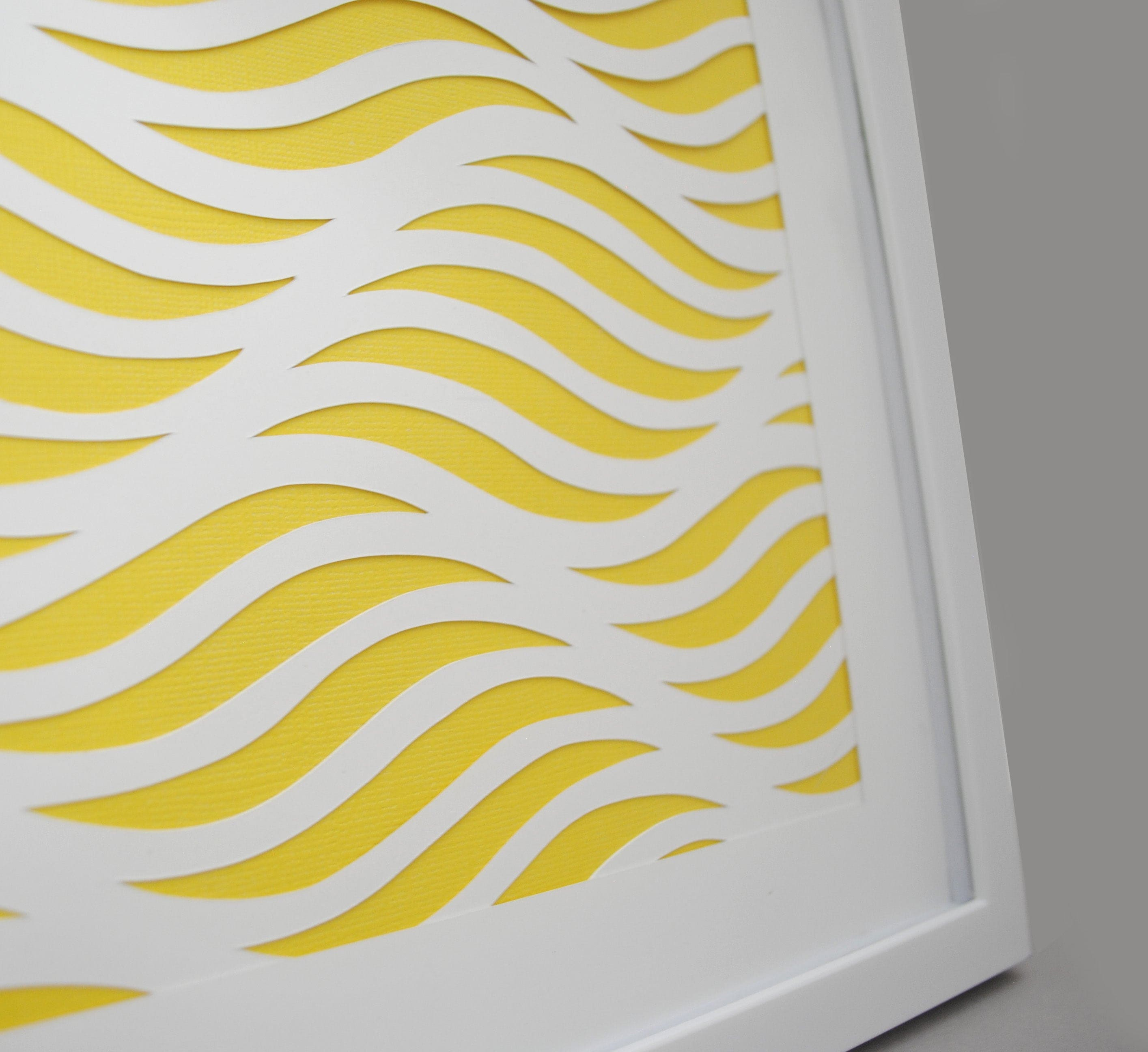 geometric waves- PAPER CUTTING - handmade art, Paper cut art, waves ...