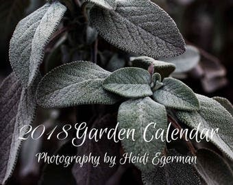 Garden Calendar, 2018 Garden Calendar, Full -Color 12-Month Calendar, Vegetable Images