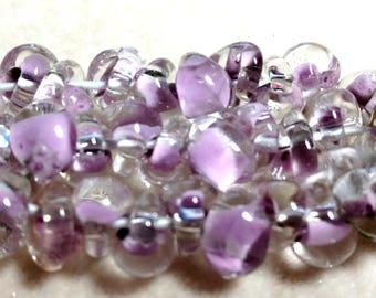 Unicorne Teardrop, Boro Glass, Color: TD140, Morning Light, Strand of 10 beads
