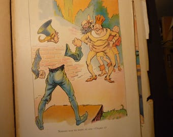 Nobody Had No Body Pirates of Oz John R Neill illustrator print - Wizard of Oz L Frank Baum color lithograph - 1931 - Nursery print framable