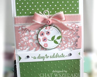 Birthday Card- Stampin' Up A Day to Cebrate