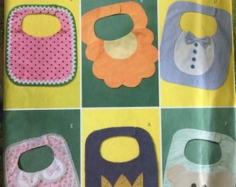 Butterick B4533, Sewing Pattern, Baby Bibs, Infant