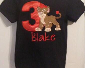 Boy Lion Guard Kion Applique Birthday Number Personalized Shirt or Onesie