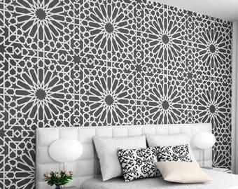 Medina Tile Stencil   Easy Way To Improve Wall Decor   DIY Wall Art    Reusable