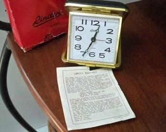 Vintage Electronics Clock Linden Travel Alarm Clock Original Box