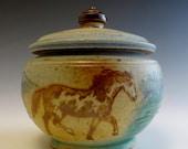 Sugar Jar 3 Paint Horses & Mountains