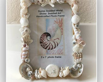 Beach Memories Seashell Frame