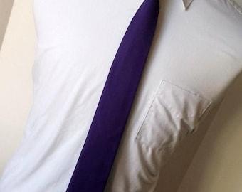 SALE Purple Necktie - Skinny or Standard Width                                  2 weeks before shipping