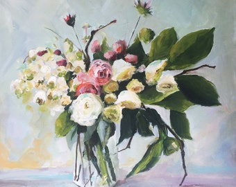 June's Flowers - Original Painting by Cari Humphry