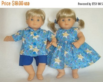 "ON SALE 15 Inch Doll Clothes/Happy Birthday/Dress,Shirt, and Shorts/3 piece set/Made to fit 15"" Bitty Baby Twins Dolls/READY To Ship"