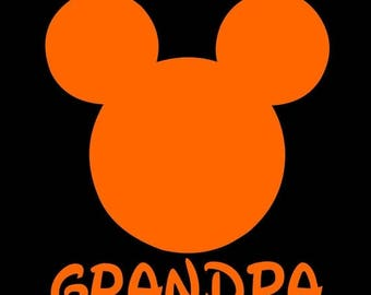 SALE Mickey Mouse Grandpa SVG JPEG instant digital file download for vinyl cutters