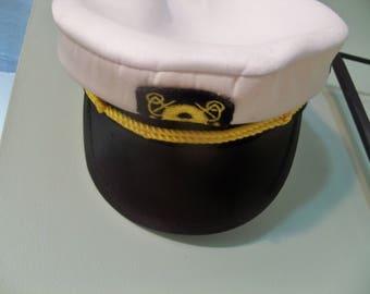 childs navy sailor cap hat