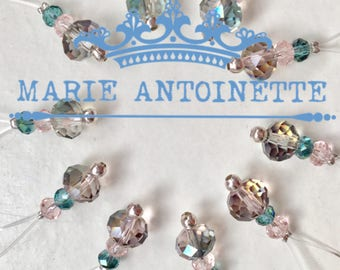 Marie Antoinette Luxury Knitting Stitch markers - packs of 10 or 20
