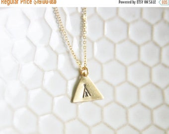 CHRISTMAS in JULY SALE Gold Brass Stamped Tee Pee Necklace My Tribe Necklace  Bohemian Southwestern Necklace Aztec Indian Necklace - New Mex