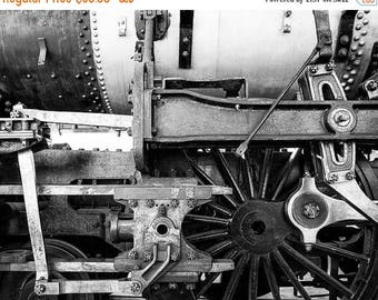 SUMMER SALE-Ends July 5- Locomotive Photo Train Vintage Photo Engine Photography Black White Man Cave Masculine Gift For Men For Guys #vin4