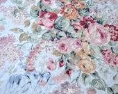 Vintage Tablecloth - Lauren Allison Pink Roses - 56 x 78 Oblong